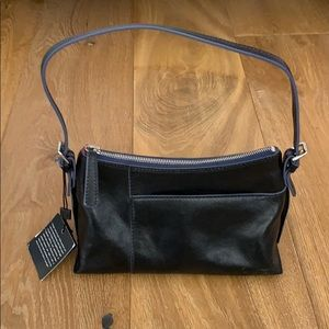 Hobo Black with Navy trim Purse